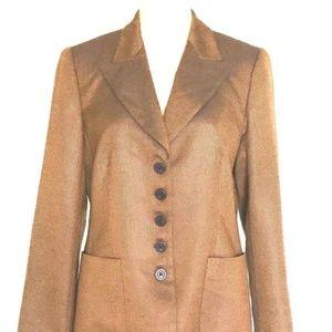 Cashmere  &Silk  Beige Placenza Jacket Blazer